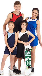 AQS01 - ADULTS UNISEX SPORTS SINGLET