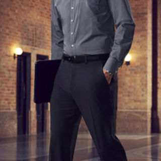 MENS SLIM FIT FLAT FRONT PANT REGULAR