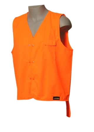HI VIS VEST DAY ONLY DUAL DOMED - DUAL SIZES